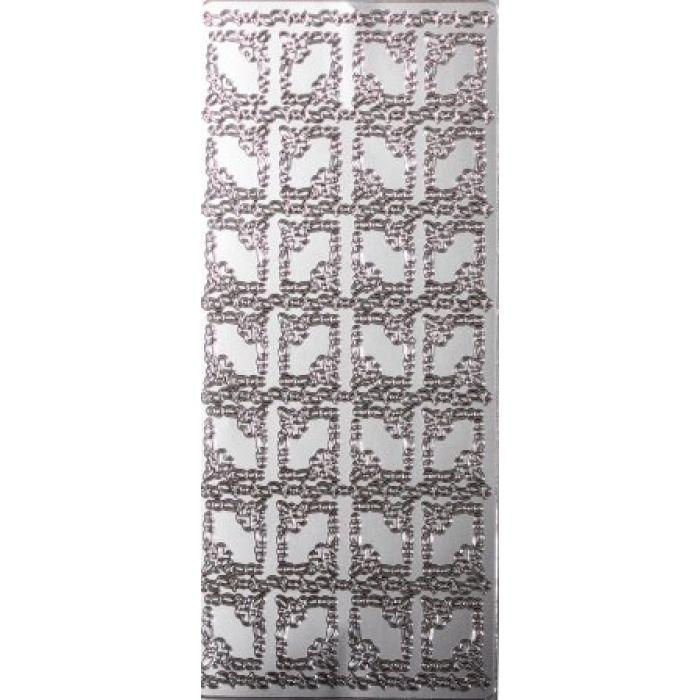 Контурные стикеры РАМКИ С СЕРДЦАМИ серебряные SCB 1500451 для скрапбукинга