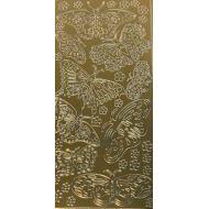 Контурные стикеры бабочки ажурные золотые