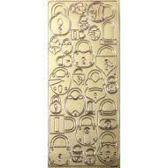 Контурные стикеры ЗАМОЧКИ золотые SCB 1504280