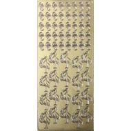 Контурные стикеры АИСТ И СОСКА-ПУСТЫШКА золотые SCB 1518310