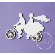 Чип-борд Молодожены на велосипеде