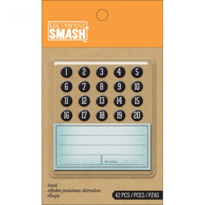 Набор Smash: цифры и бланки для подписей для скрапбукинга