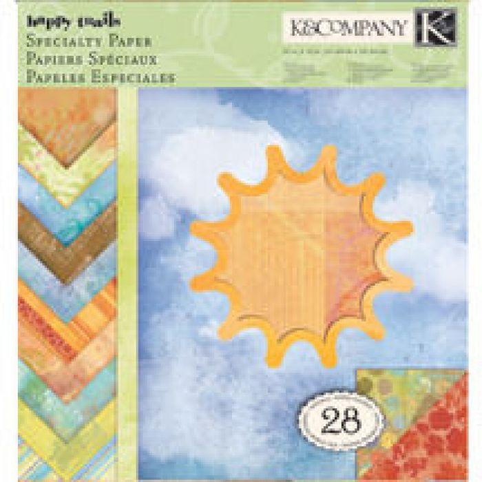 Набор бумаги Солнышко 31х31см для скрапбукинга