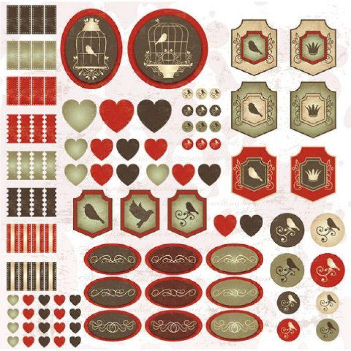 Бумага Декор, коллекция На крыльях любви для скрапбукинга