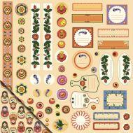 Бумага Декор и теги №3, коллекция Русское ассорти