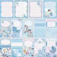 Бумага Журналинг голубой, коллекция Малыш и малышка