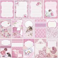 Бумага журналинг розовый, коллекция малыш и малышка