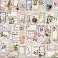 Бумага Счастливые билетики, коллекция Романс