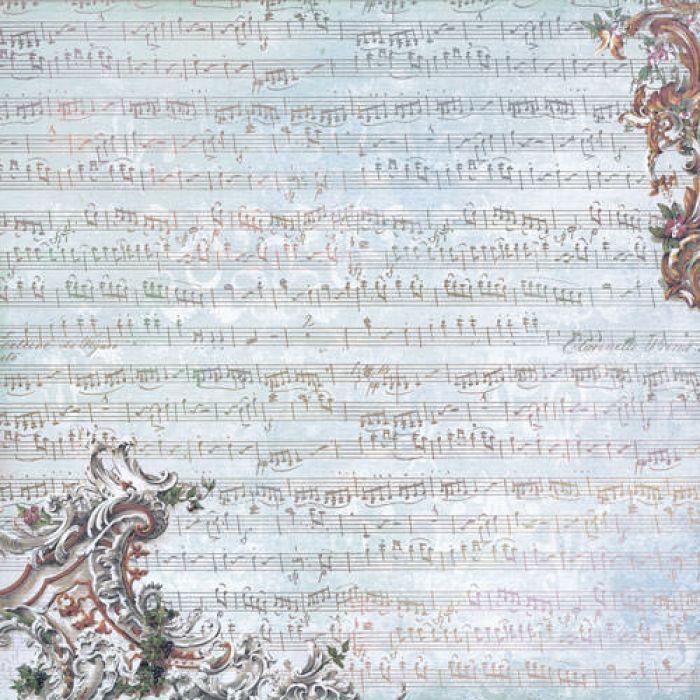 Бумага Музыка души, коллекция Романс для скрапбукинга