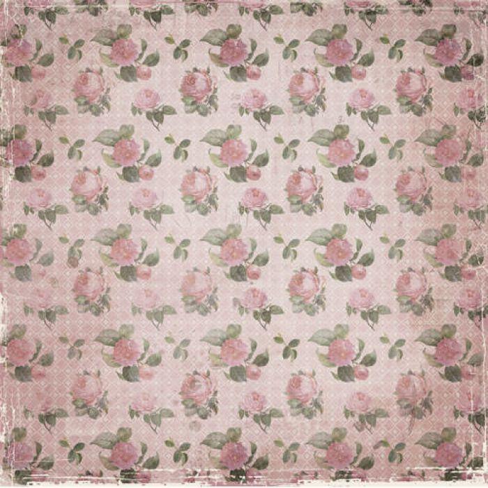 Бумага Нежные розы, коллекция Романс для скрапбукинга