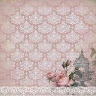 Бумага Бархатные розы, коллекция Романс