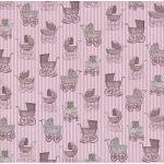 Бумага Розовые коляски , коллекция Малыш и малышка