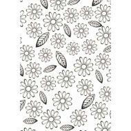 """Папка для тиснения """"Цветы и листья"""""""