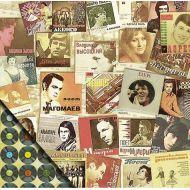 Бумага Музыка, коллекция Привет из шестидесятых