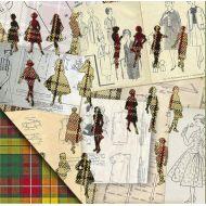 Бумага Мода, коллекция Привет из шестидесятых