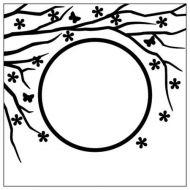 """Папка для тиснения """"Весна в воздухе, круг"""""""