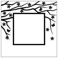 """Папка для тиснения фоновая """"Весна в воздухе, квадрат"""""""