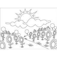 """Папка для тиснения """"Летние цветы"""""""