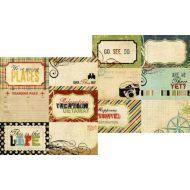 Бумага JOURNALING ELEMENTS, коллекция Destinations