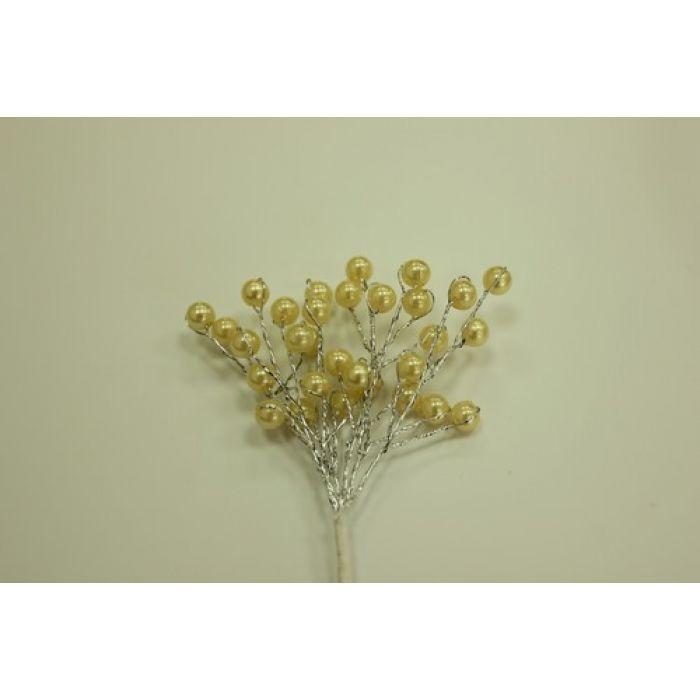 Мини-веточки с жемчужинками КРЕМОВЫЕ для скрапбукинга