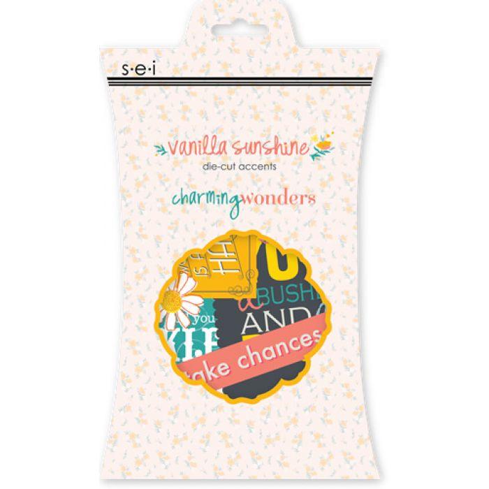 Набор вырубок, коллекция Vanilla Sunshine для скрапбукинга