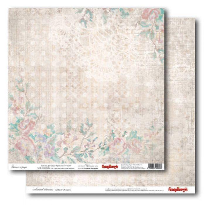 Бумага Запах корицы, коллекция Цветные Сны для скрапбукинга