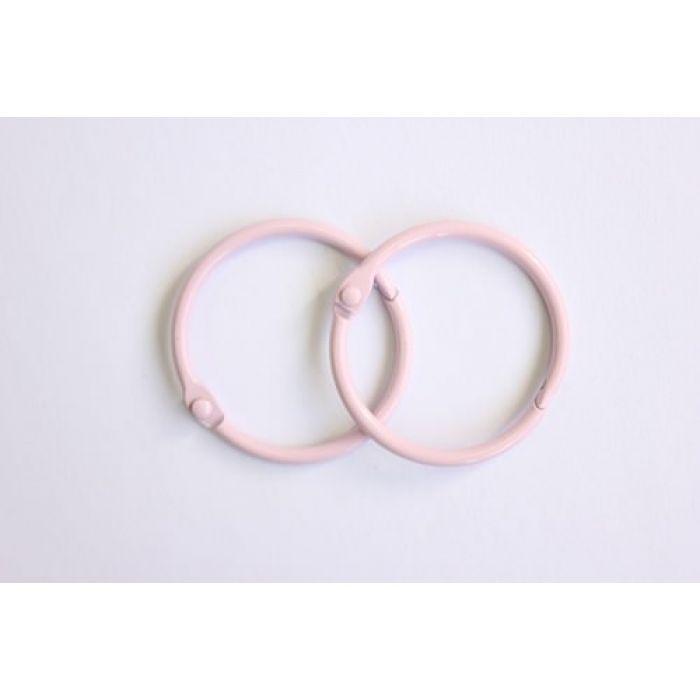 Кольца для альбомов 2 шт розовые 40 мм для скрапбукинга
