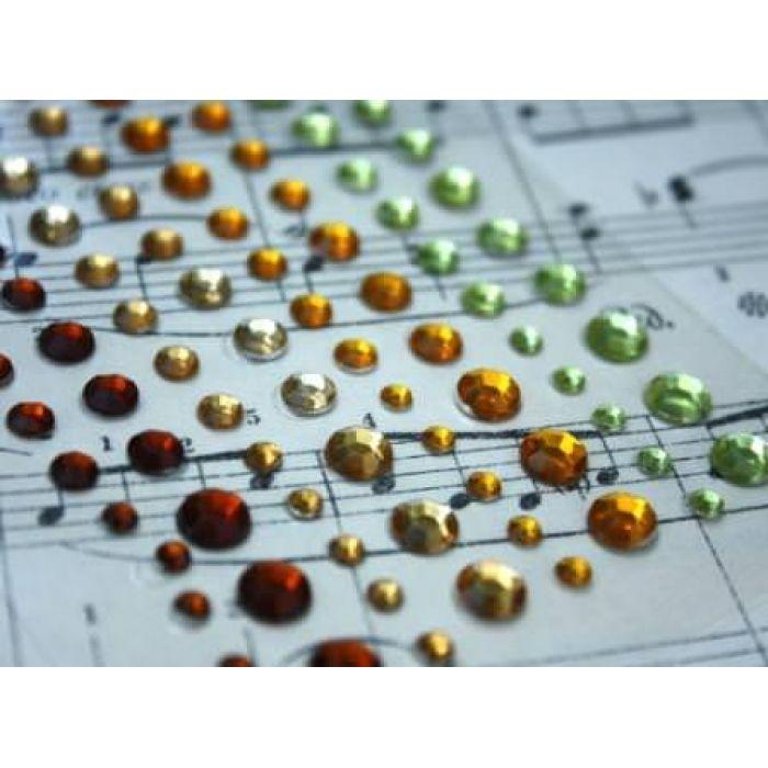 Клеевые камушки 120 шт 4 цвета Индийские для скрапбукинга