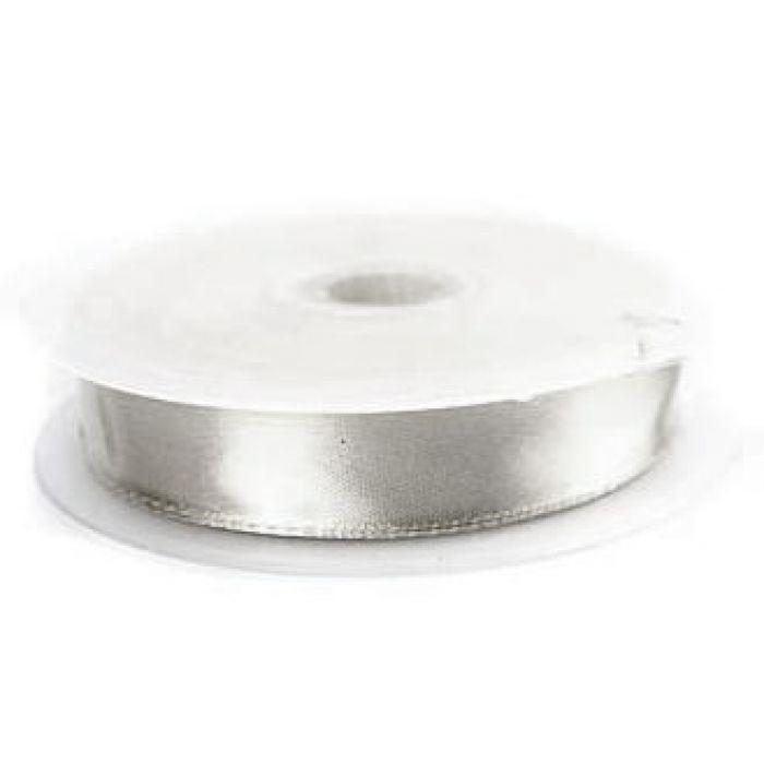Лента атласная серебряная для скрапбукинга