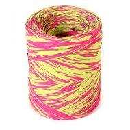Рафия синтетическая розовая-зеленая