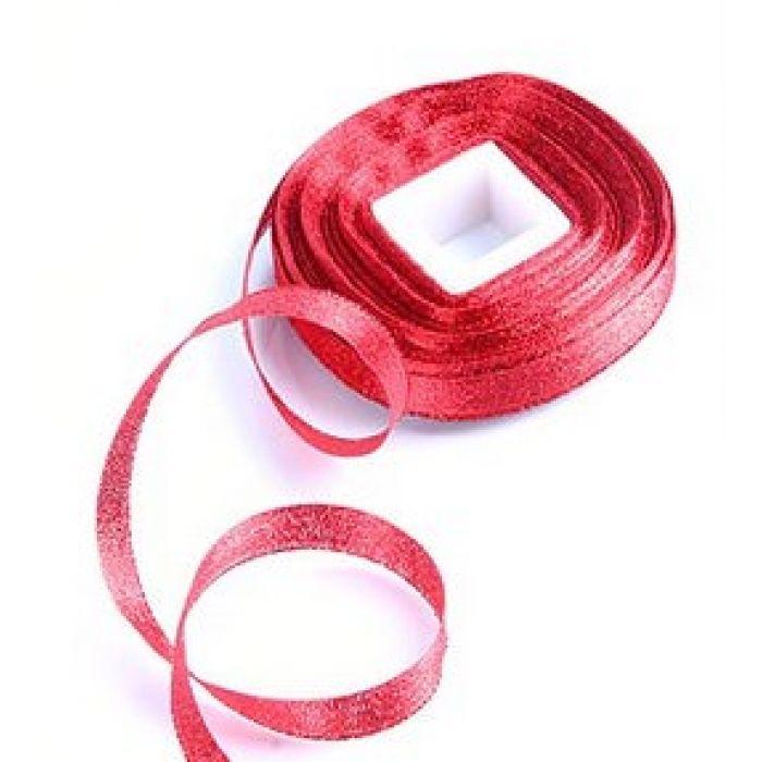 Лента парча красная  для скрапбукинга