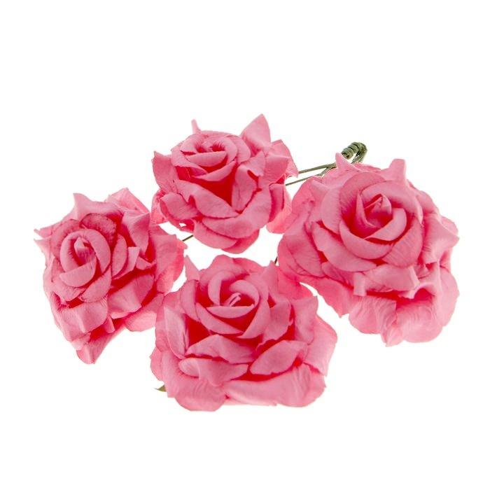 Розы кудрявые розовые для скрапбукинга