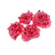 Розы кудрявые красные