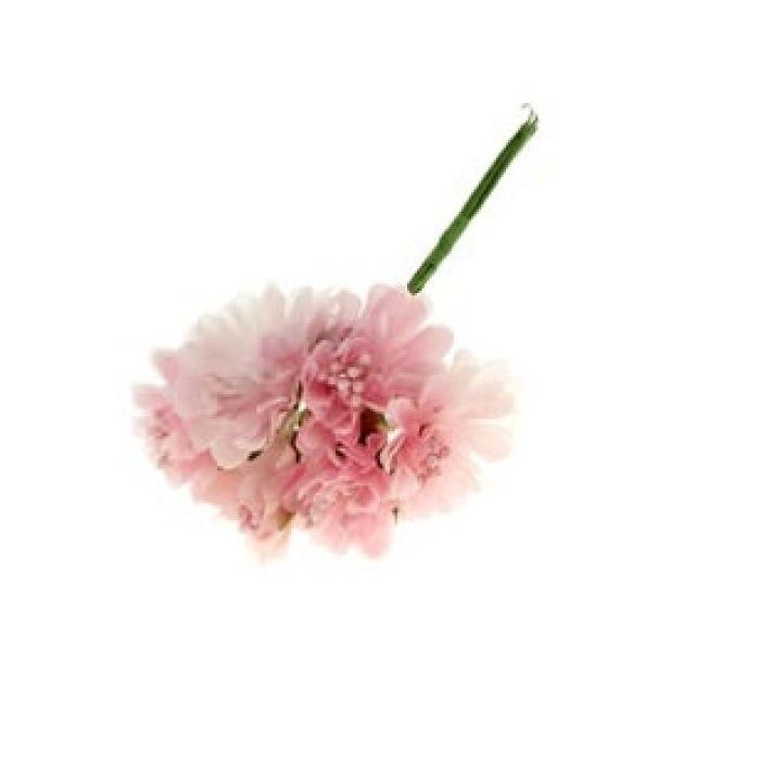 Набор цветов Астра светло-розовая для скрапбукинга