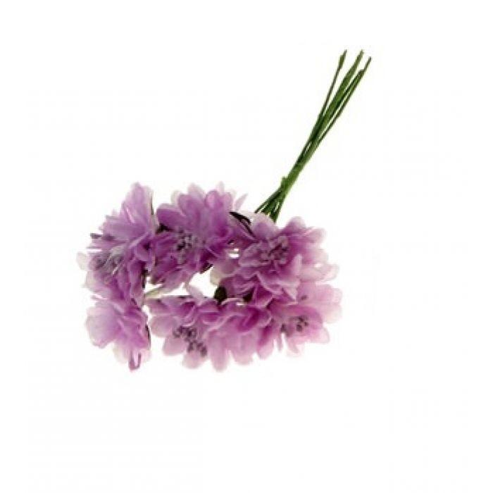 Набор цветов Астра сиреневая для скрапбукинга