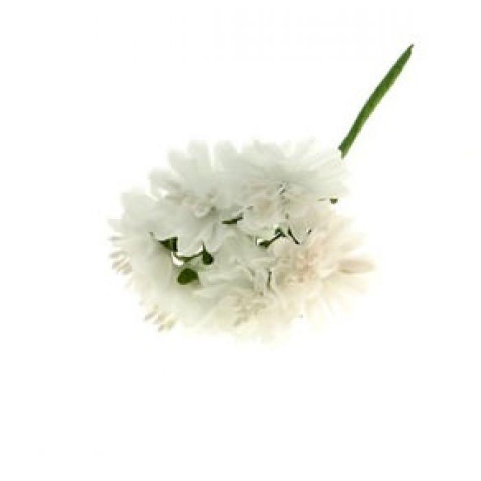 Набор цветов Астра белая для скрапбукинга