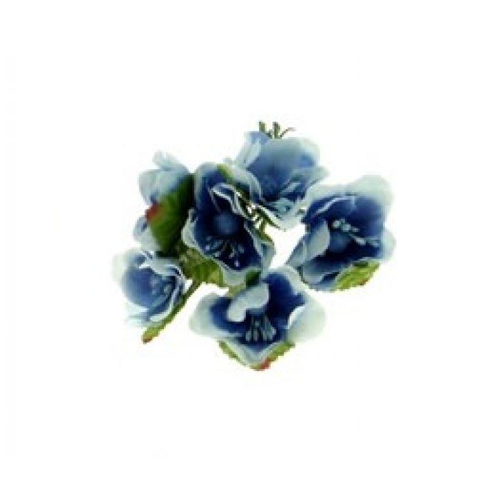 Набор цветов Циния голубая для скрапбукинга