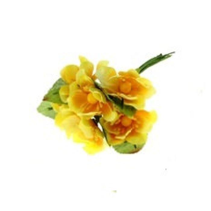 Набор цветов Циния желтая для скрапбукинга