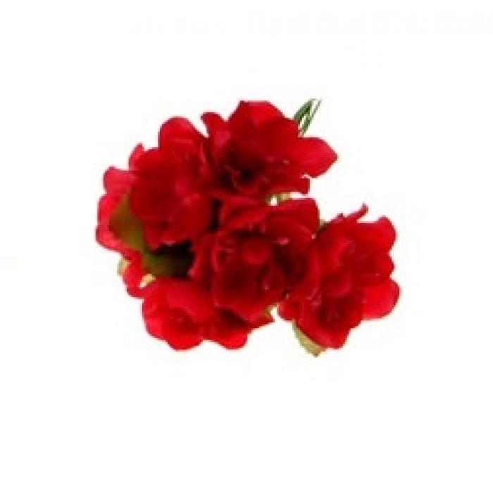 Набор цветов Циния красная для скрапбукинга