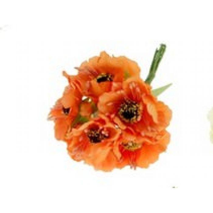 Цветы Бегония оранжевая для скрапбукинга
