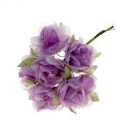 Набор цветов Розы мини сиреневые
