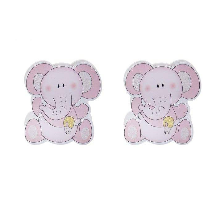 """Прищепка """"Слоненок"""" розовый для скрапбукинга"""