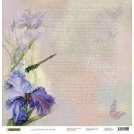Бумага Ирис, коллекция Акварельные цветы