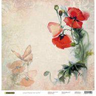 Бумага Мак, коллекция Акварельные цветы