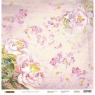 Бумага Розовые пионы, коллекция Акварельные цветы