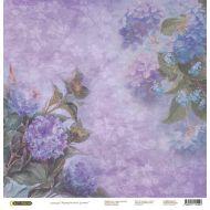 Бумага Гортензии, коллекция Акварельные цветы