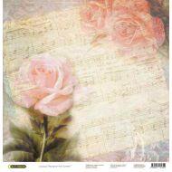 Бумага Розы, коллекция Акварельные цветы