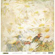 Бумага Ромашки, коллекция Акварельные цветы