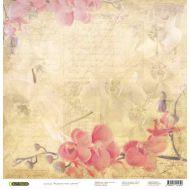 Бумага Орхидеи, коллекция Акварельные цветы