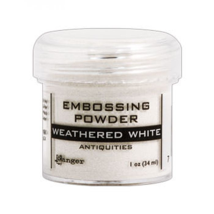 Пудра закалённый белый для скрапбукинга